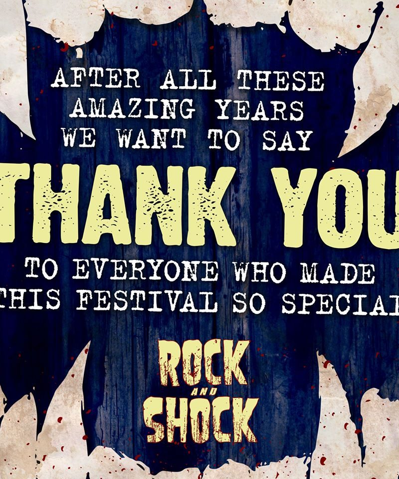 Rock and Shock Festival Disbands