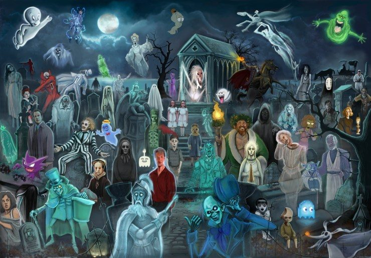 Can You Name the 60 Different Pop Culture Ghosts Hidden in This Awesome Piece of Art?