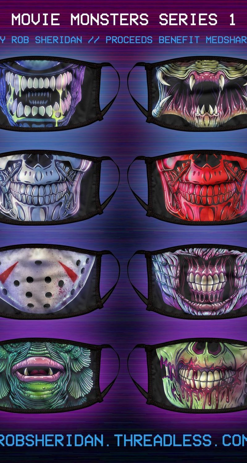 """These """"Movie Monsters"""" Face Masks Are the Coolest Way to Stay Safe and Support a Good Cause"""