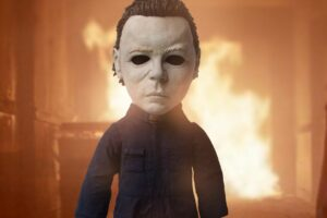 Mezco 'Halloween II' Micheal Myers Figure Stands 15″ and Can talk
