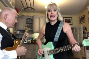 Toyah and Robert Fripp grapple with Jimi Hendrix in latest Sunday Lunch incident
