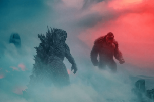 'Godzilla vs. Kong' Bus Shelter Art Gets In Each Other's Faces