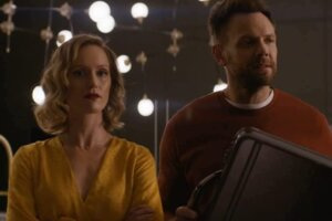 Happily Stars Joel McHale And Kerry Bishe Proudly Describe The Movie's Script As 'Bonkers' And 'Batsh-t'
