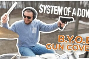 Here's how System Of A Down's B.Y.O.B. sounds when played using assault rifles instead of drums