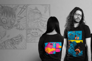 Loot Crate Colorizes Junji Ito Art Into Must-Own Blacklight Shirts!