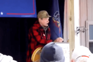 "TED NUGENT Heckled At Political Rally To ""Shut Up And Strum"""
