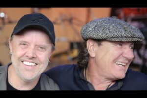 Watch: Lars Ulrich Gives AC/DC's Brian Johnson A Tour Of METALLICA HQ