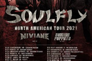 Metal Underground – Soulfly Announces U.S. Tour Dates; Niviane And Suicide Puppets To Provide Support On Select Dates