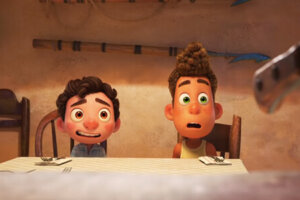 'Slash Film: Pixar's 'Luca' Clip: Life on Land is Dangerous for Kids Who Are Actually Fish People'