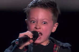 """Watch This 7-Year-Old Boy Totally Nail His """"Highway to Hell"""" on The Voice Kids in Spain"""