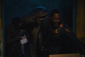 'Coming Soon: King Shark Wants to Wear a Disguise in The Suicide Squad Clips'