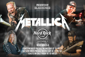 METALLICA Announce Intimate (By Their Standards) Show in Florida for November