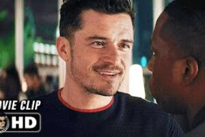 """JoBlo: NEEDLE IN A TIMESTACK Clip – """"Why Do You Stay Away?"""" (2021) Orlando Bloom"""