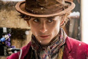 'Slash Film: First Look At Timothée Chalamet As Willy Wonka Or Possibly Gonzo The Great'