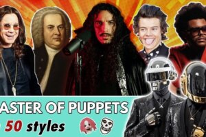 Watch Master Of Puppets performed in the style of Phil Collins, Queen, JS Bach and Harry Styles