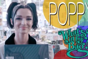 Watch Poppy fill her bag with black metal and doom albums while record shopping